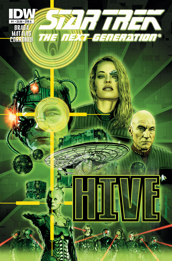 StarTrek_TheNextGeneration_Hive_01_CvrA.1 Celebrated writer Brannon Braga returns to STAR TREK