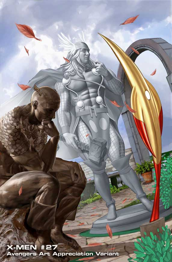 Uncanny-X-Men-11-AAA-GregHorn Marvel discloses Avengers Art Appreciation Variant Covers