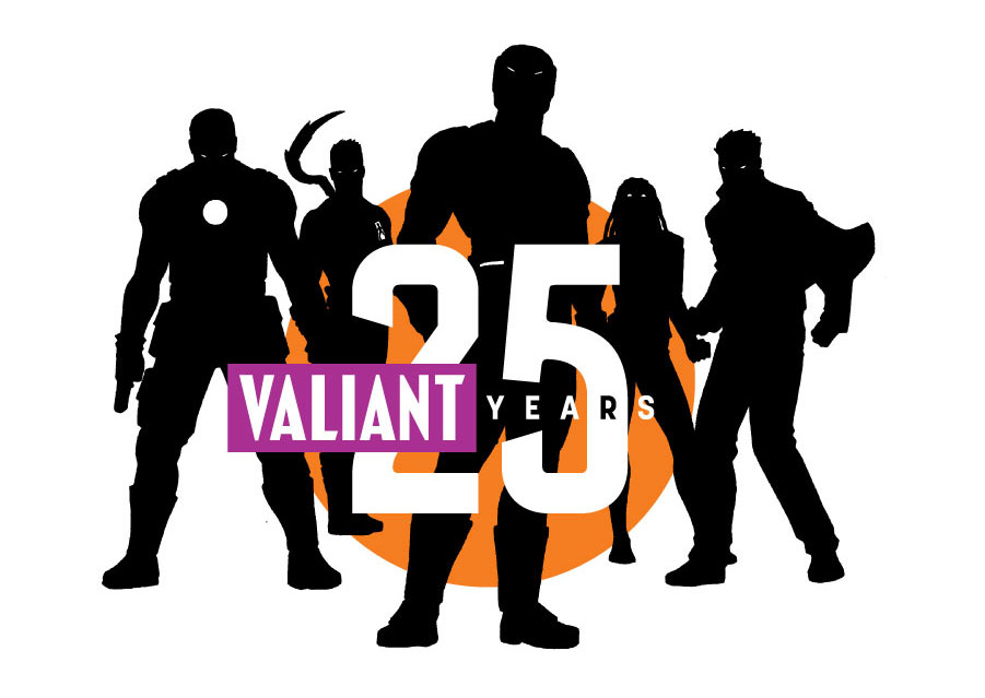 VALIANT_25th_logo_designed-by-Rian-Hughes The Valiant 25th Anniversary Celebration begins in May