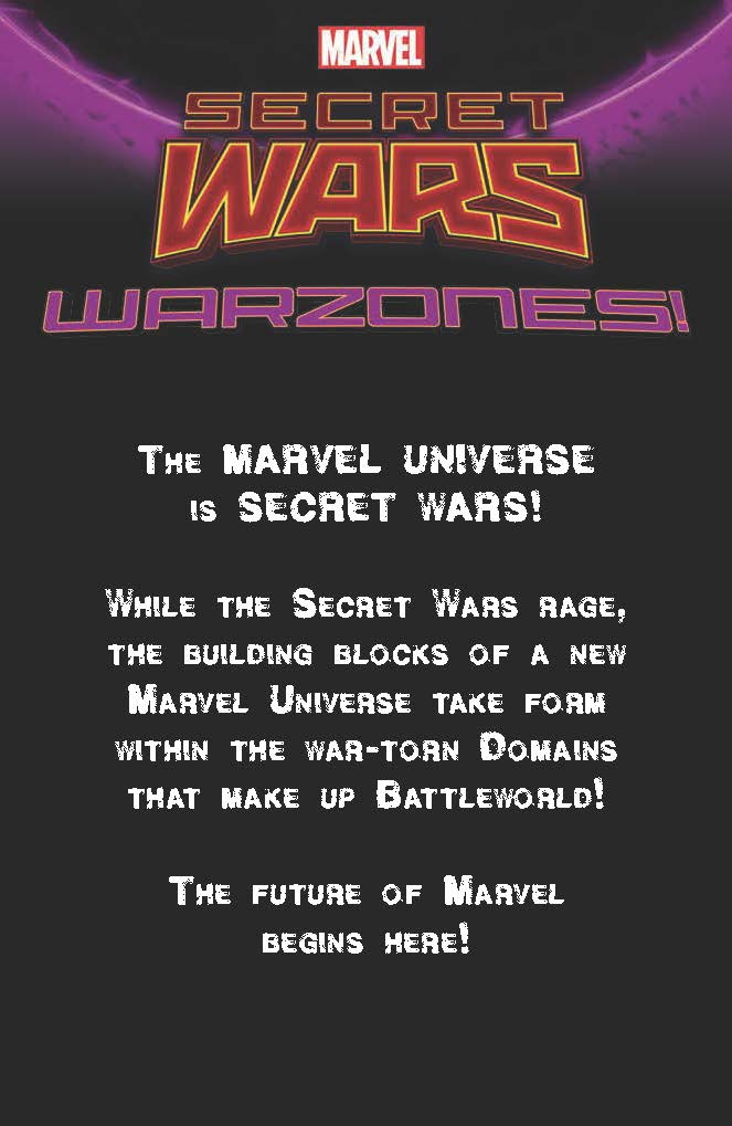 WARZONES! SECRET WARS' WARZONES are good for absolutely everything