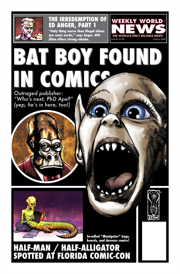 Weekly_World_News_cover IDW Brings Bat Boy To Comics In January 2010