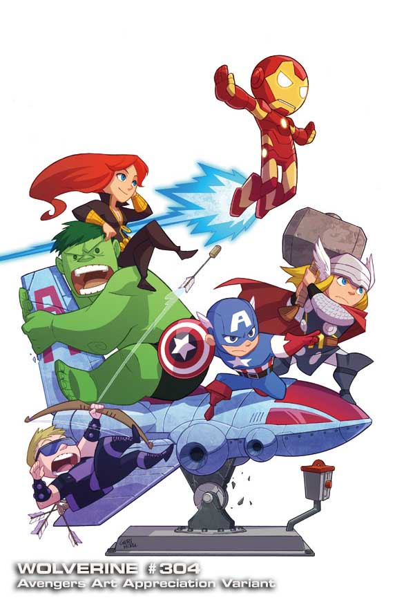 Wolverine-304-AAA-Gurihiru Marvel discloses Avengers Art Appreciation Variant Covers