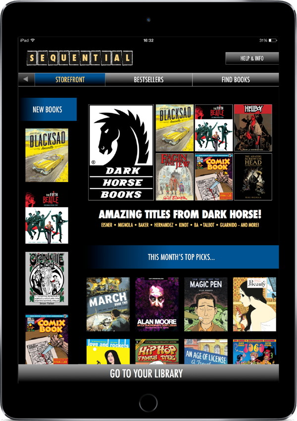 dhapnewsfeed Dark Horse titles available on SEQUENTIAL iPad app