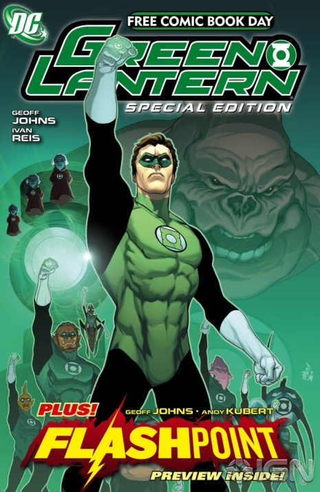 flashpoint-event-2011 Contents of GREEN LANTERN / FLASHPOINT FCBD 2011 SPECIAL EDITION revealed