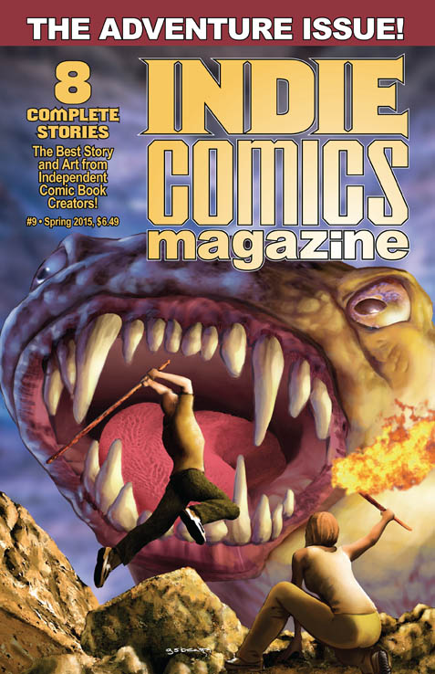 icm9-cover-web-res The adventure begins and never ends in INDIE COMICS MAGAZINE #9