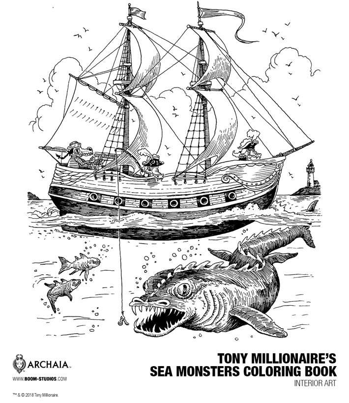 1ffe3f6f-daca-4220-a0b5-1d3f9b91c701 Tony Millionaire will color your opinion of SEA MONSTERS
