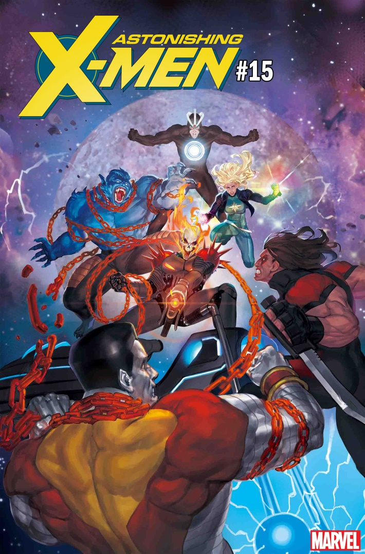 ASTXM015_CGR_AKCHO_VAR COSMIC GHOST RIDER races to the top with September variant covers