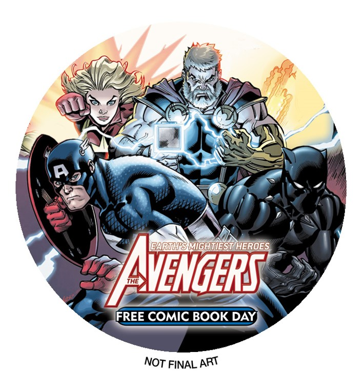 Avengers_FCBD_Button Marvel unveils a dynamic and deadly AVENGERS for FCBD 2019