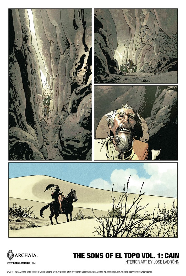 ElTopo_HC_InteriorArt1_PROMO First Look at BOOM! Studios' THE SONS OF EL TOPO VOLUME 1 CAIN GN