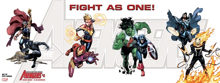 FIGHTASONE Marvel introduces the complete all-new Avengers roster