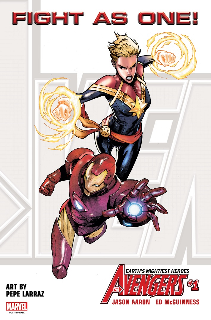 FIGHTASONE_IM_CAPMARV The all-new Avengers roster to include Iron Man and Captain Marvel
