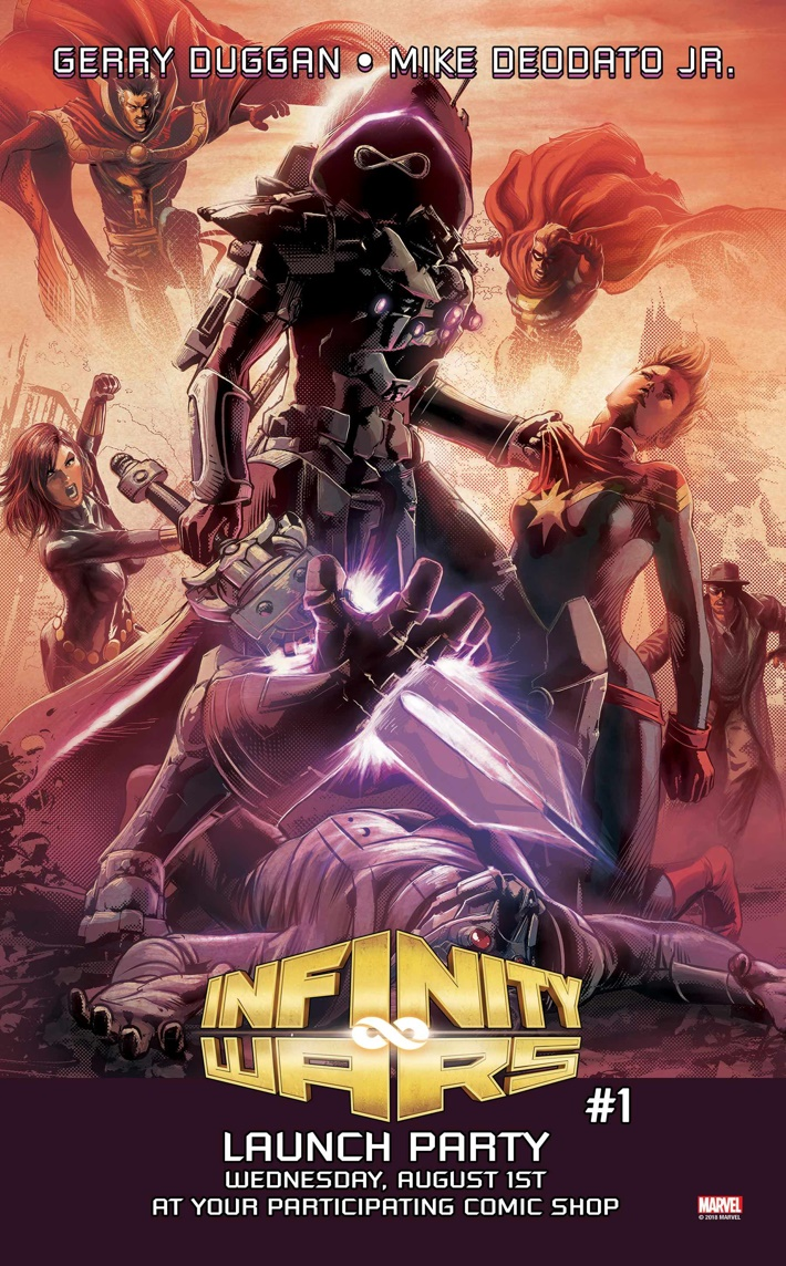 Infinity_Wars_Launch_Party_A INFINITY WARS #1 Launch Parties unleash a new cosmic adventure this August