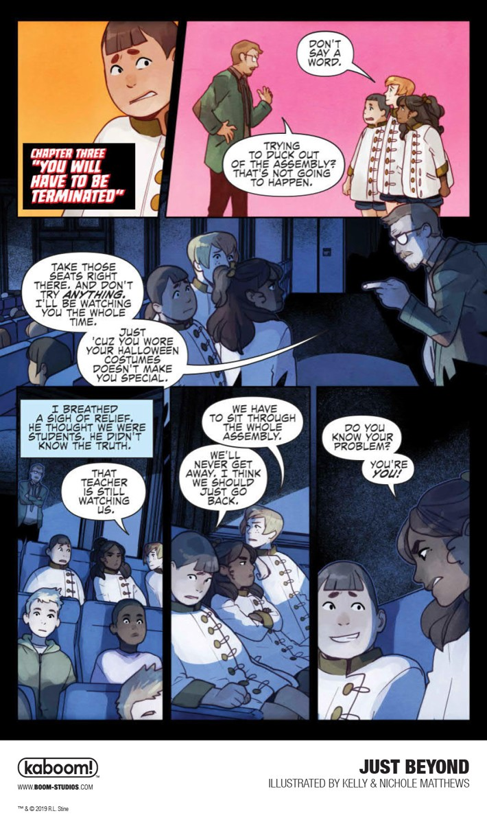 JustBeyond_OGN_InteriorArt_013_PROMO First Look at BOOM! Studios' JUST BEYOND: THE SCARE SCHOOL GN