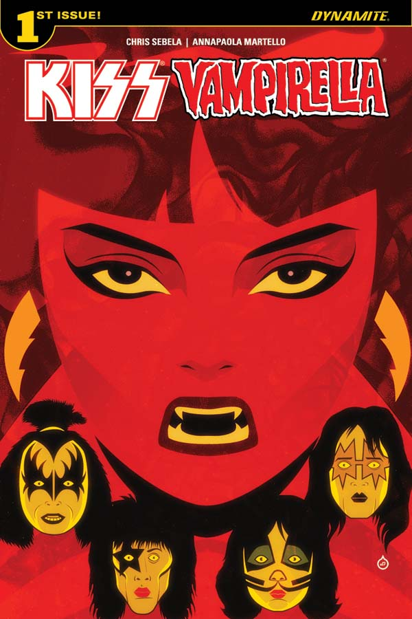 KissVampiCovADoe Rock 'n roll legends KISS meet horror comics icon VAMPIRELLA