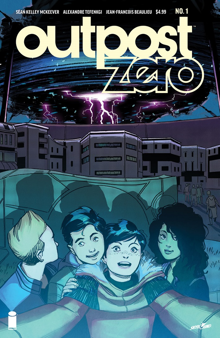 OutpostZero01_Cover Sci-fi adventure OUTPOST ZERO kicks off with a double-sized debut issue