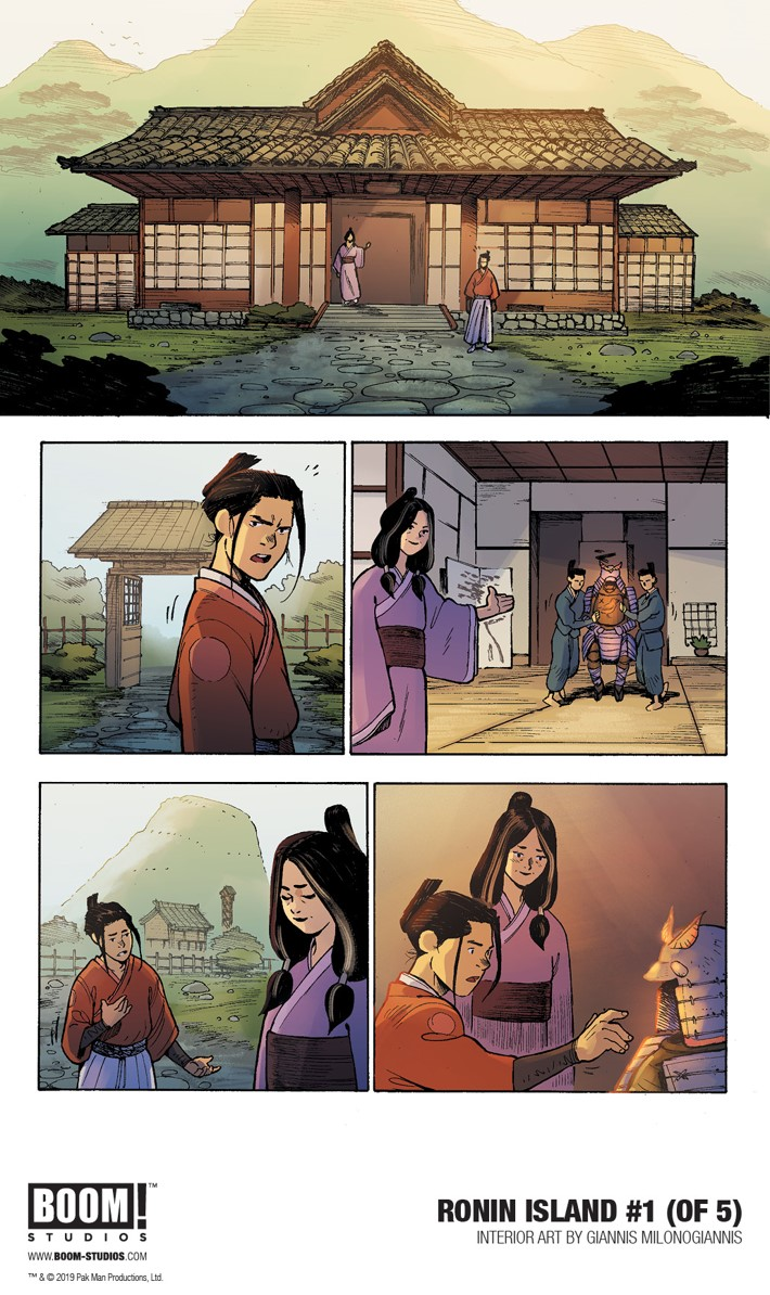 RoninIsland_001_InteriorArt_001_PROMO First Look at BOOM! Studios' RONIN ISLAND #1​