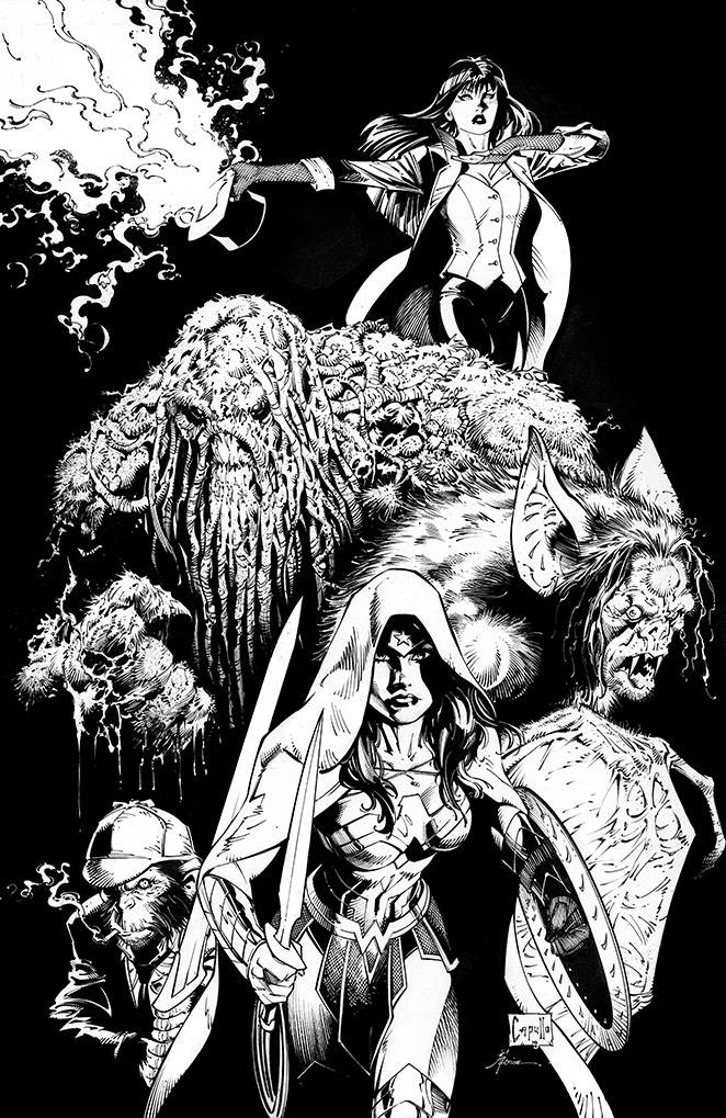 STL096696 JUSTICE LEAGUE DARK #1 conjures up a black and white variant