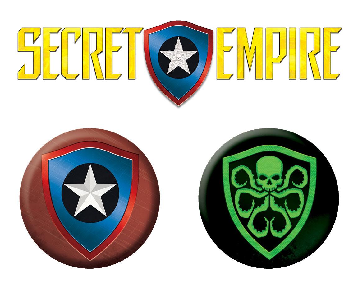 Secret_Empire_Pins Local comic shops to host SECRET EMPIRE #1 launch parties