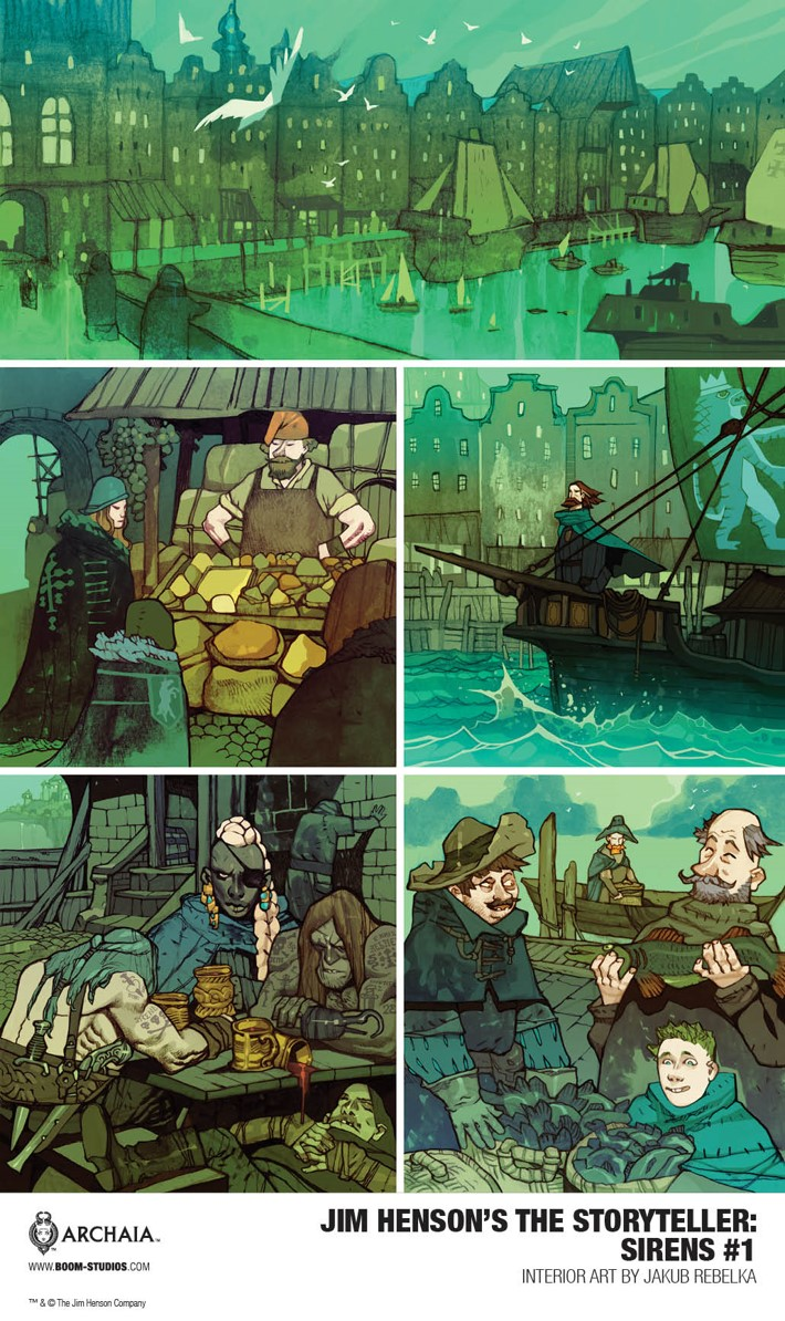Sirens_001_InteriorArt3_PROMO First Look at BOOM! Studios' JIM HENSON'S THE STORYTELLER SIRENS #1