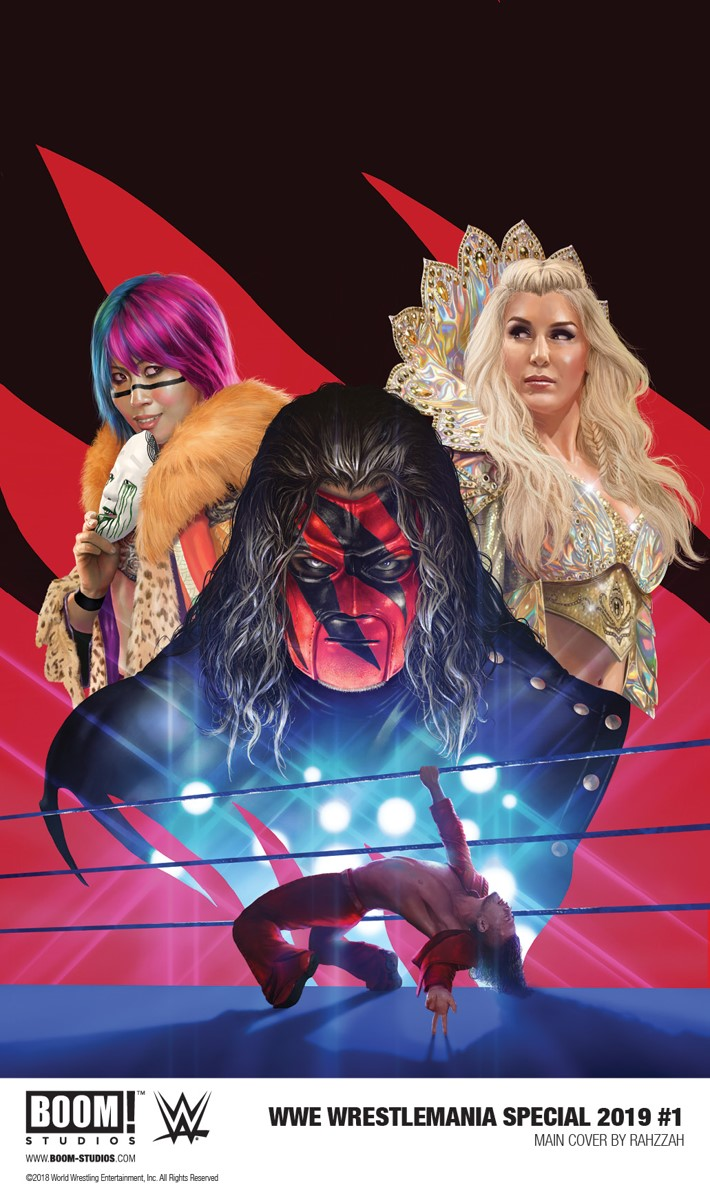 WWEWrestlemania_2019_001_Main_Rahzzah First Look at BOOM! Studios' WWE WRESTLEMANIA 2019 SPECIAL #1