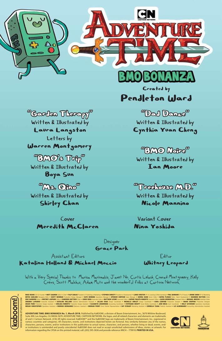 AT_BMOBonanza_PRESS_2 ComicList Previews: ADVENTURE TIME BMO BONANZA #1