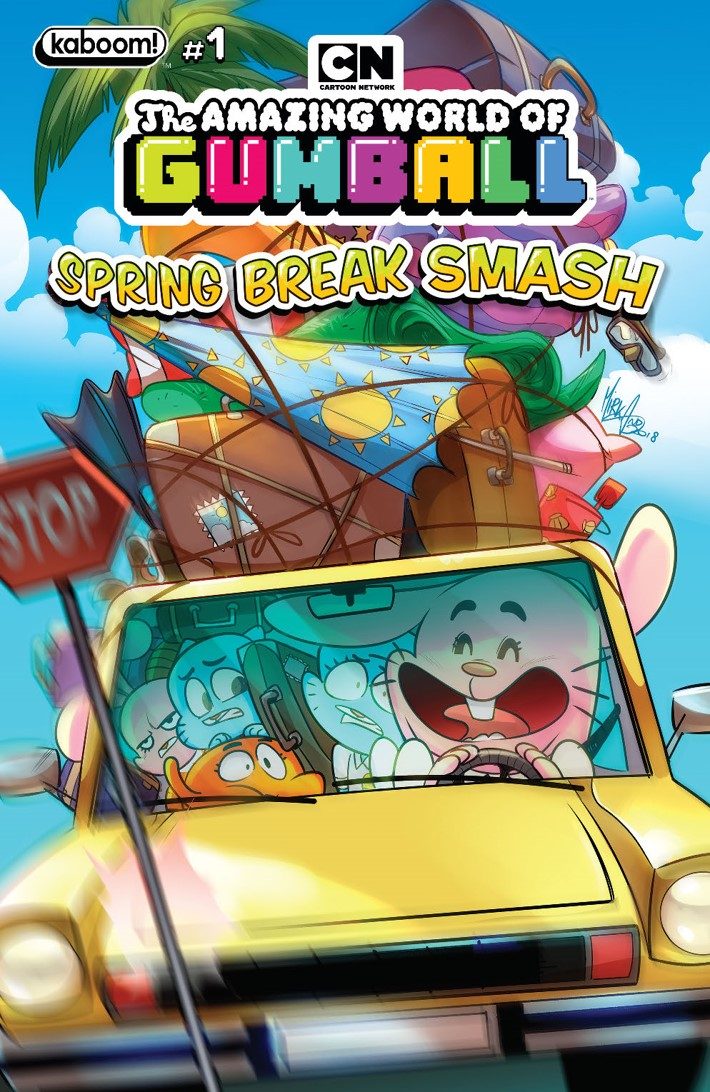 AWOG_2019_SpringBreakSmash_A_Main ComicList Previews: THE AMAZING WORLD OF GUMBALL SPRING BREAK SMASH #1