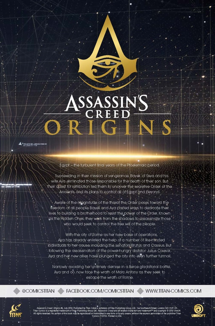 Assassins_Creed_Origins_4_lowres_Page_Story ComicList Previews: ASSASSIN'S CREED ORIGINS #4