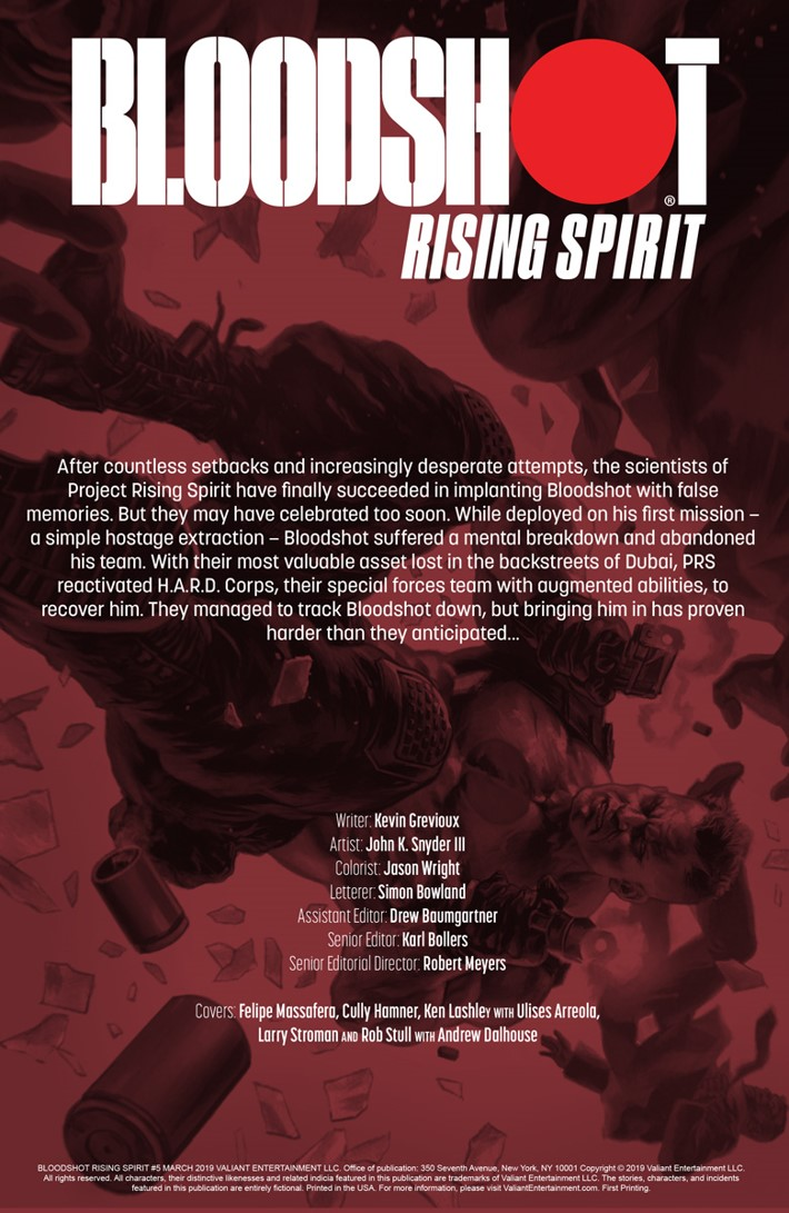 BRS5_PREVIEW_1 ComicList Previews: BLOODSHOT RISING SPIRIT #5
