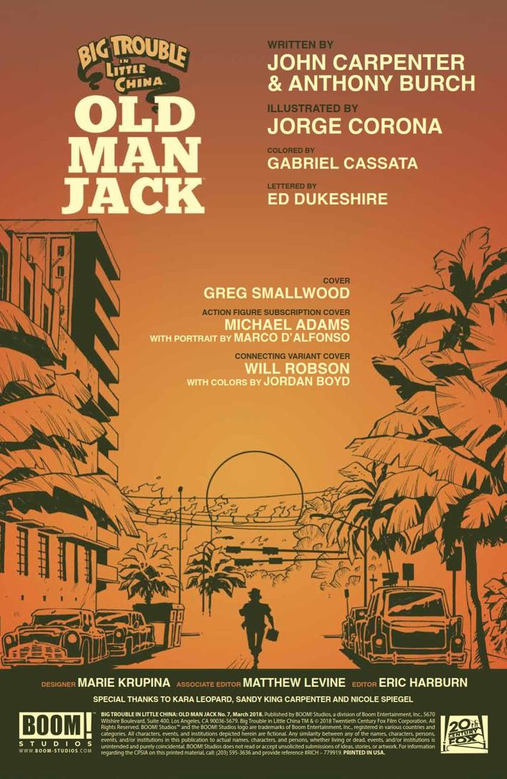 BTLC_OMJ_007_PRESS_2 ComicList Previews: BIG TROUBLE IN LITTLE CHINA OLD MAN JACK #7