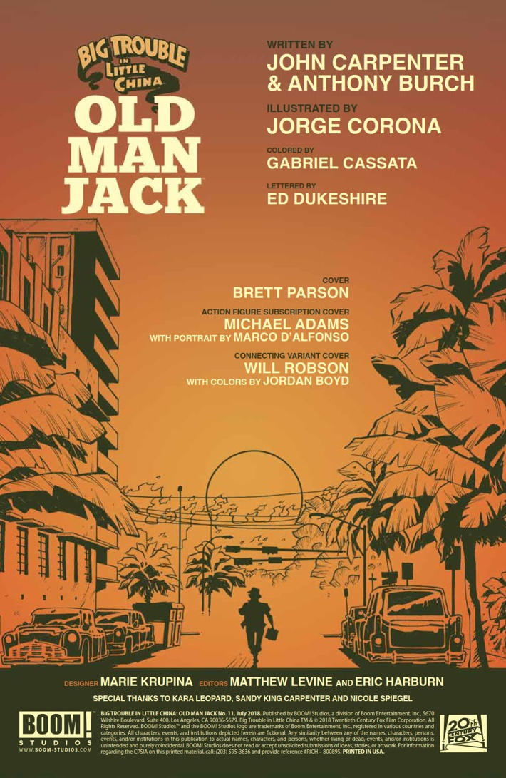 BTLC_OMJ_011_PRESS_2 ComicList Previews: BIG TROUBLE IN LITTLE CHINA OLD MAN JACK #11