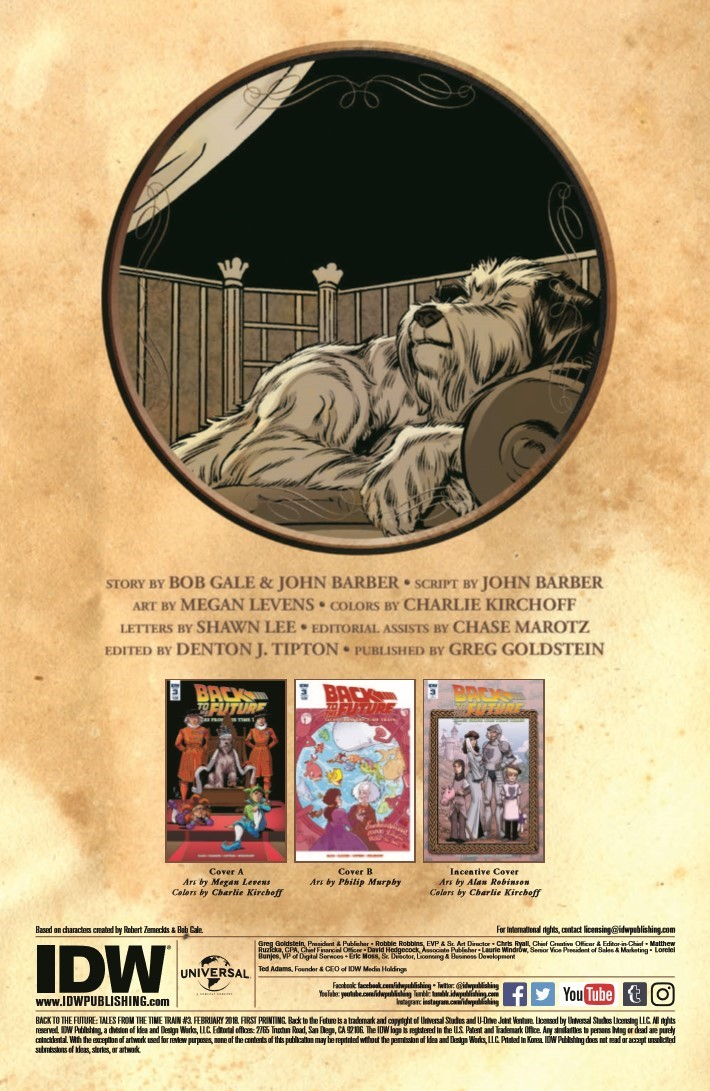 BTTF_TimeTrain_03-pr-2 ComicList Previews: BACK TO THE FUTURE TALES FROM THE TIME TRAIN #3