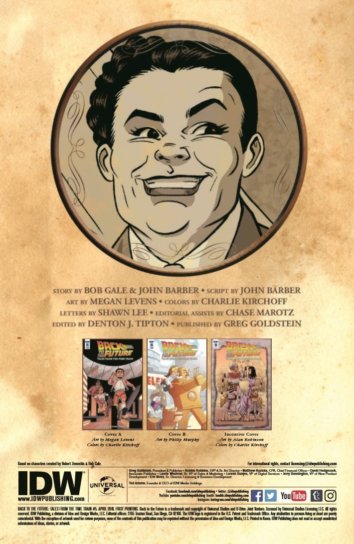 BackToTheFuture_TimeTrain_05-pr-2 ComicList Previews: BACK TO THE FUTURE TALES FROM THE TIME TRAIN #5