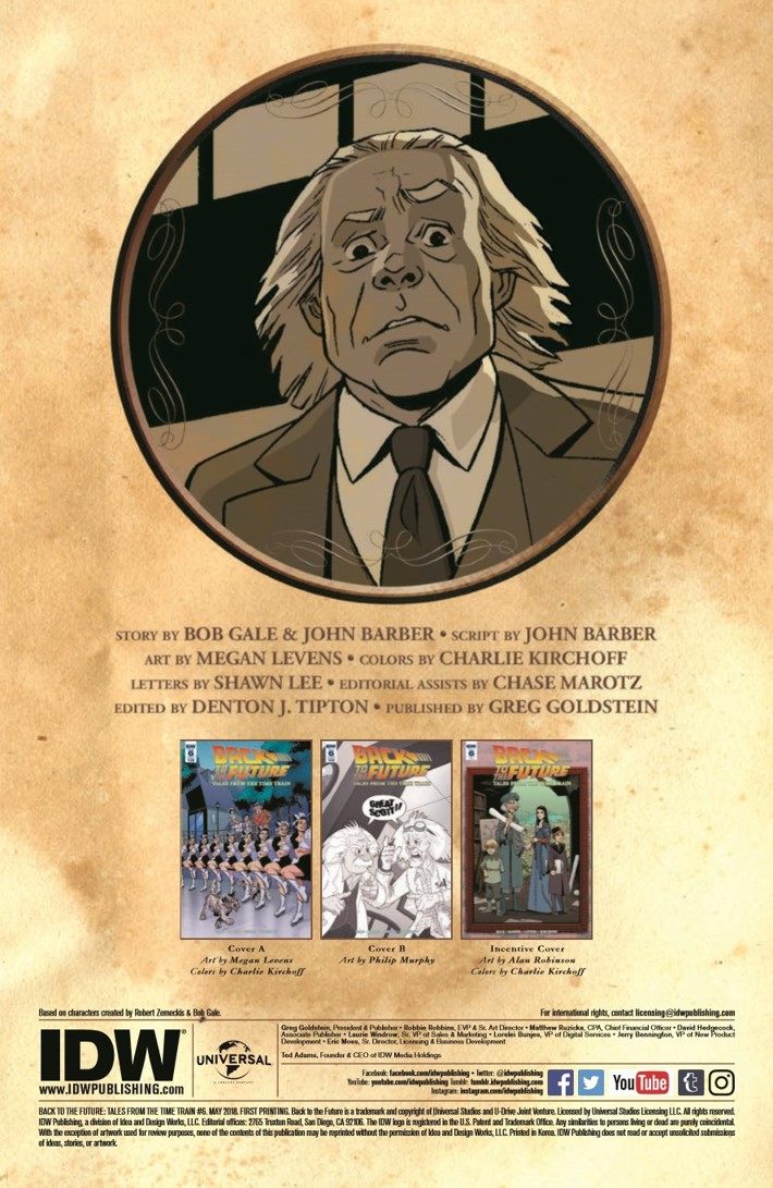 BackToTheFuture_Time_Train_06-pr-2 ComicList Previews: BACK TO THE FUTURE TALES FROM THE TIME TRAIN #6