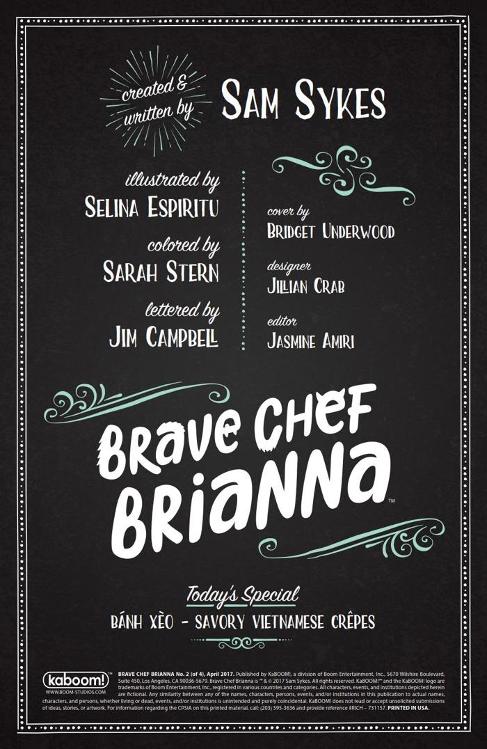 BraveChefBrianna_002_PRESS_2 ComicList Preview: BRAVE CHEF BRIANNA #2
