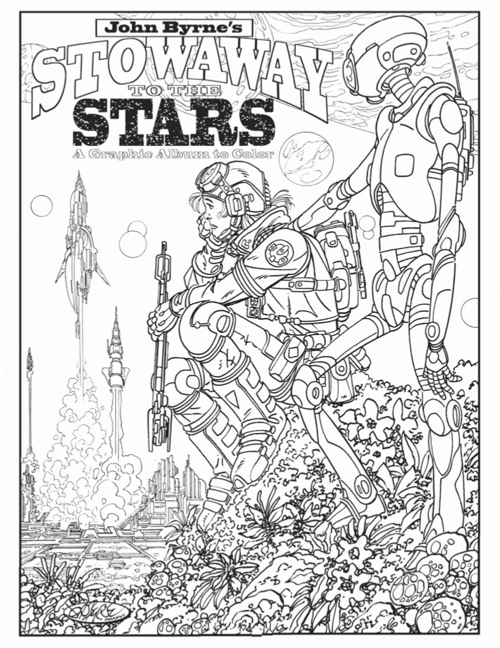 ColoringBook-JohnByrne-pr-3 ComicList Previews: JOHN BYRNE'S STOWAWAY TO THE STARS #1 (SPECIAL EDITION)