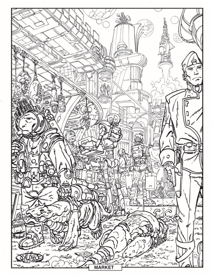 ColoringBook-JohnByrne-pr-7 ComicList Previews: JOHN BYRNE'S STOWAWAY TO THE STARS #1 (SPECIAL EDITION)