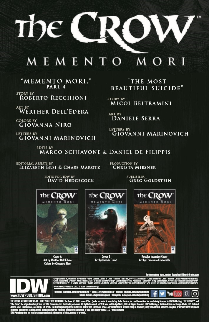 Crow_Memento_Mori_04-pr-2 ComicList Previews: THE CROW MEMENTO MORI #4