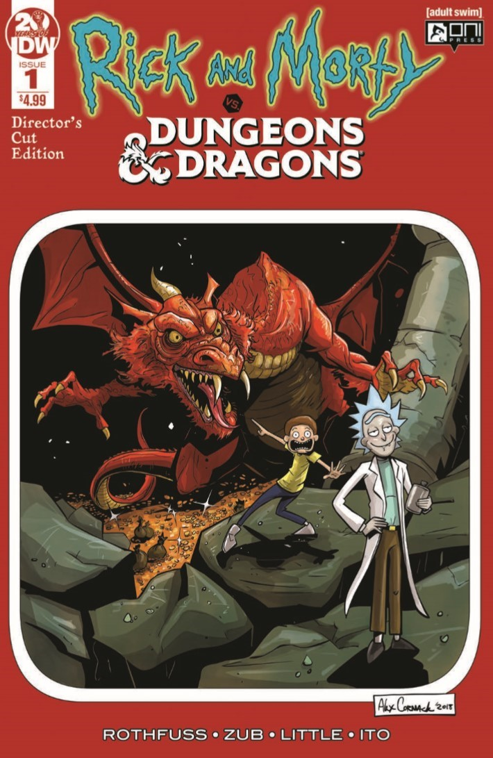 Dungeons_and_Dragons_Rick_Morty_Directors_Cut-pr-1 ComicList Previews: RICK AND MORTY VS DUNGEONS AND DRAGONS #1 DIRECTOR'S CUT