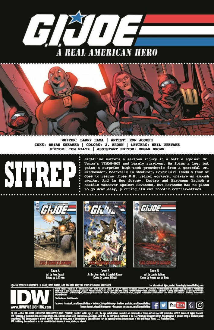 GIJoe_260-pr-2 ComicList Previews: G.I. JOE A REAL AMERICAN HERO #260