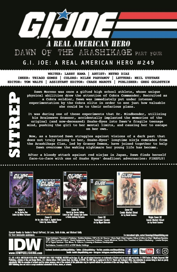 GIJoe_RAH_249-pr-2 ComicList Previews: G.I. JOE A REAL AMERICAN HERO #249