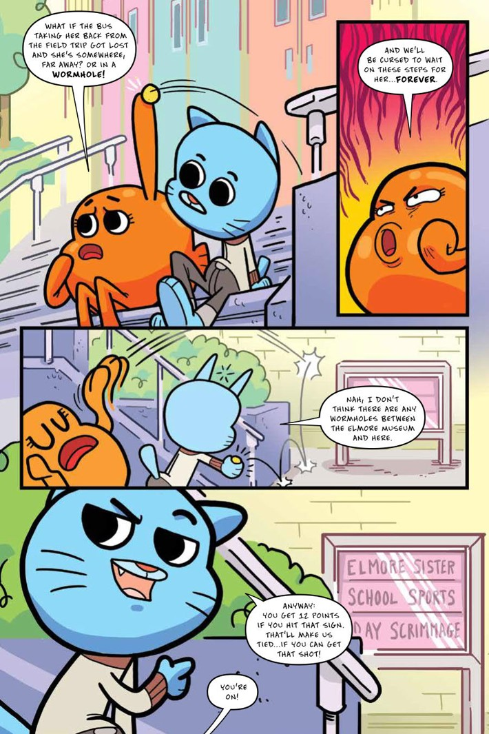 Gumball_OGN_v4_ScrimmageScramble_PRESS_9 ComicList Previews: THE AMAZING WORLD OF GUMBALL VOLUME 4 SCRIMMAGE SCRAMBLE GN