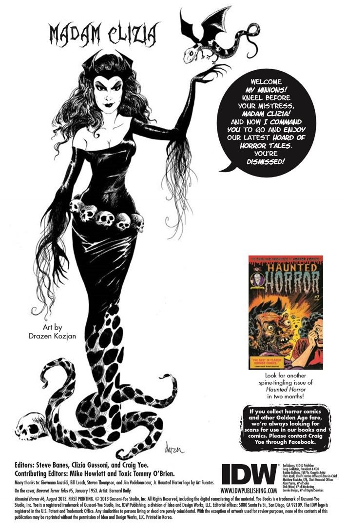 HauntedHorror_06-pr-2 ComicList Previews: HAUNTED HORROR VOLUME 6 NIGHTMARE OF DOOM AND MUCH MUCH MORE HC