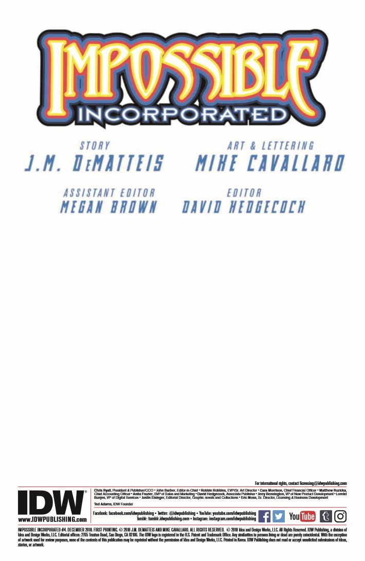 Impossible_Inc_04-pr-2 ComicList Previews: IMPOSSIBLE INCORPORATED #4