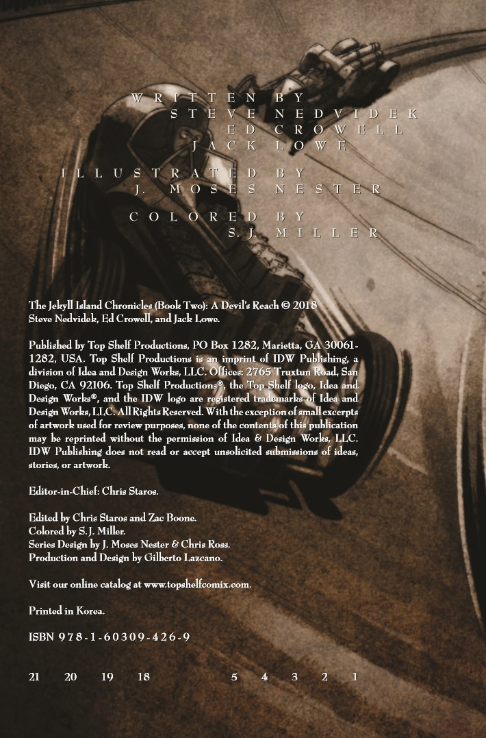 Jekyll_Island_Chronicles_vol2-pr-2 ComicList Previews: THE JEKYLL ISLAND CHRONICLES VOLUME 2 A DEVIL'S REACH GN