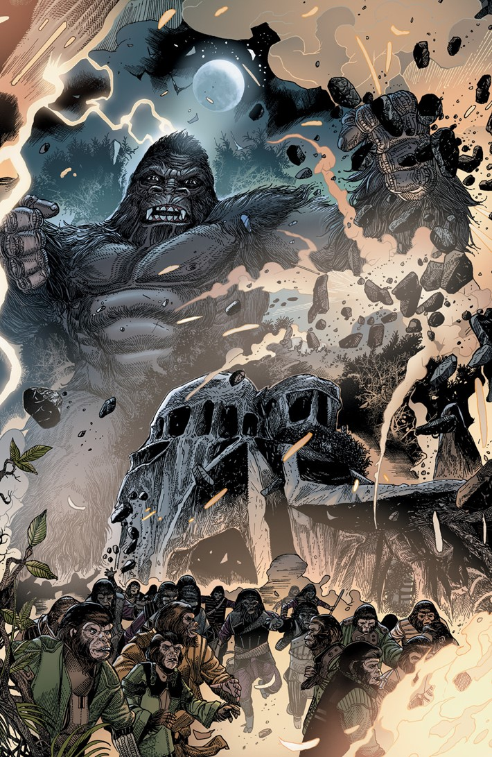 KongPOTA_005_C_Connecting ComicList Previews: KONG ON THE PLANET OF THE APES #5