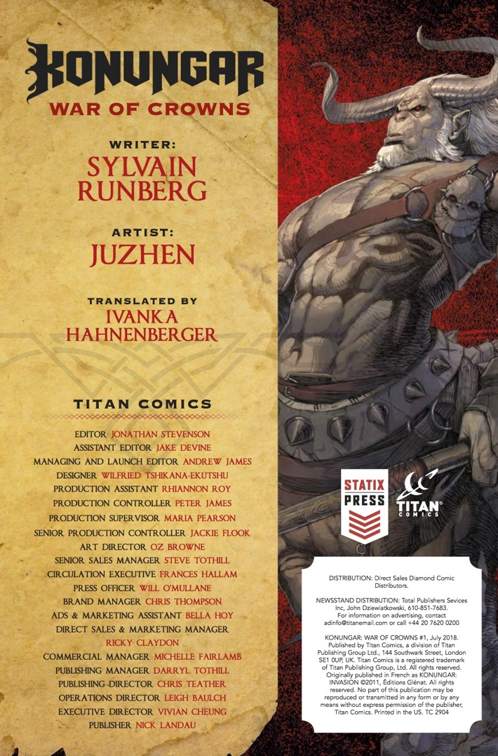 Konungar_1_Credits ComicList Previews: KONUNGAR WAR OF CROWNS #1