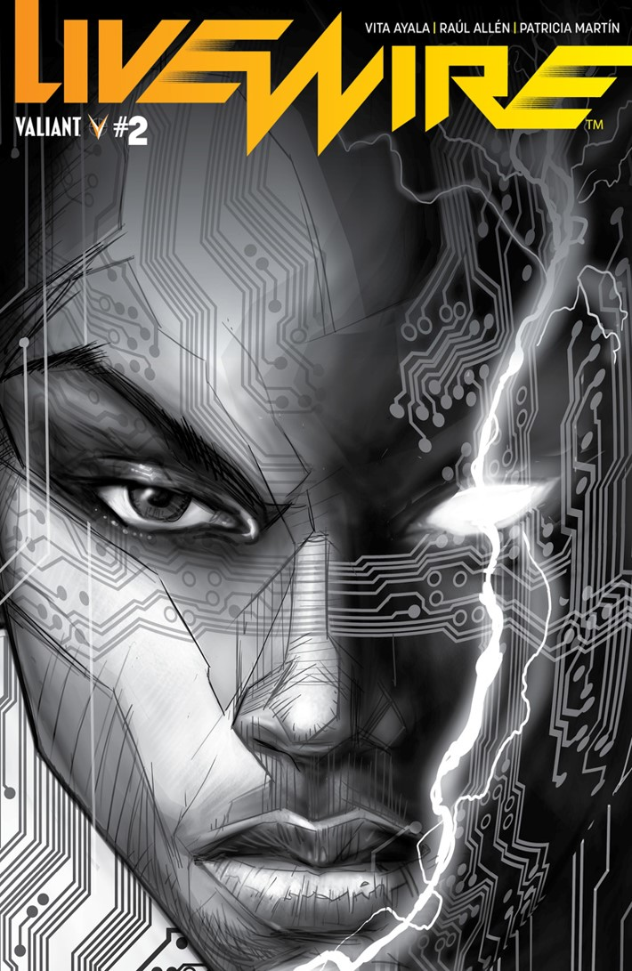 LIVEWIRE_002_VARIANT-BNW_POLLINA ComicList Previews: LIVEWIRE #2
