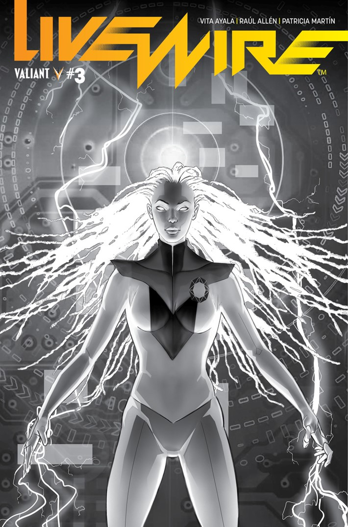 LW3_BW-Variant ComicList Previews: LIVEWIRE #3