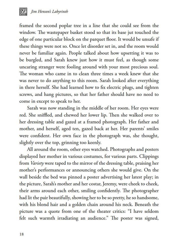 Labyrinth_Novelization_SC_PRESS_20 ComicList Previews: JIM HENSON'S LABYRINTH THE NOVELIZATION SC