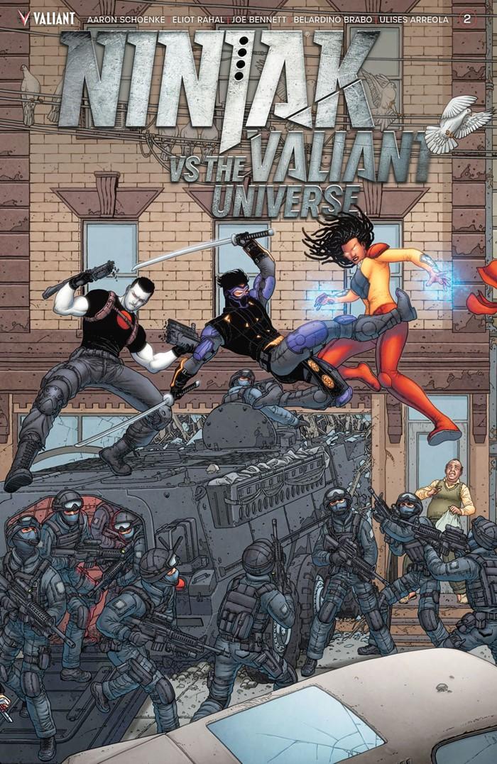 NJKVS_002_VARIANT-INTERLOCKING_PORTELA ComicList Previews: NINJAK VS THE VALIANT UNIVERSE #2